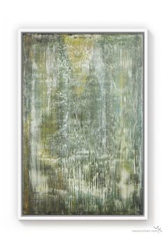 """A new contemporary painting named """"Soft Malachite"""" by Max Kulich. It features a floating green yellow composition with spots of white and gray. For more details about the artwork or similar contemporary paintings please head over to our shop. Free Frames, Original Paintings, Abstract Paintings, Acrylic Colors, White Paints, Malachite, Contemporary Paintings, Art Blog, Hand Painted"""