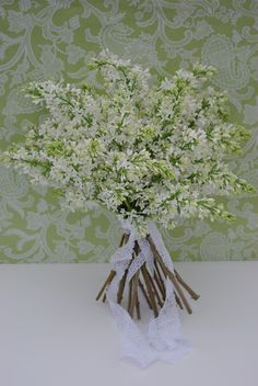 white lilac bouquet - why aren't they available at the end of June...my favorite!  :(