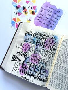 Bible journaling page by @courtkassner on Instagram