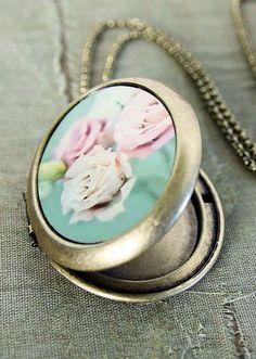Shabby Chic Locket Necklace