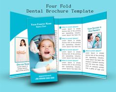 These four-fold brochure templates will help you to promote your business. All are customizable, print-ready & free for personal purpose or commercial use. Psd Templates, Brochure Template, Design Desk, Promote Your Business, Lorem Ipsum, Dental, Prints, Free, Flyer Template