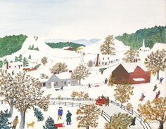 Christmas by Grandma Moses / American Art