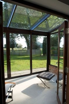 lean to Garden room L Rd South conservatory, - Modern Sunroom Decorating, Garden Room, House Design, Pergola Garage Door, Glass House, Room Extensions, New Homes, Curved Pergola, Garden Room Extensions