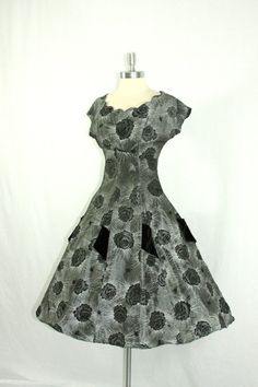 Vintage 1950's Dress  ATOMIC Silver and by VintageFrocksOfFancy, $260.00