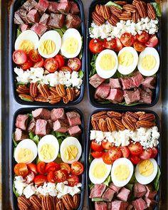 Steak Cobb Salads via @feedfeed on https://thefeedfeed.com/damn_delicious/steak-cobb-salads