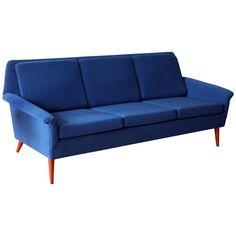 Folke Ohlsson Dux Mid Century Modern Three Seat Sofa 1
