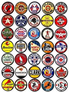 For home or business these vintage inspired gas and oil signs will add a touch of class with their retro look. Turn your garage, bathroom or even kitchen into a nostalgic space that travels through time with adverts of classic oil companies and old gas station companies. Table Vintage, Vintage Home Decor, Baskets Vintage, Art Vintage, Vintage Auto, Vintage Style, Cabinet Decor, Cabinet Knobs, Cabinet Hardware