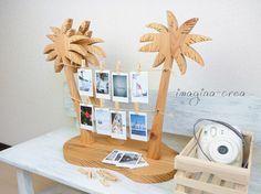 ハンドメイド販売サイト「Creema」に出品してます。 ヤシの木型フォトフレーム / ナチュラル(OF) タイプ1