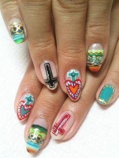 #Mexicana #manicure available at Casa La Tia!