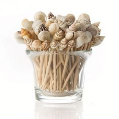 {diy Wedding Projects} Beach Themed Sea Shell Toothpicks | Becoming the Mrs.