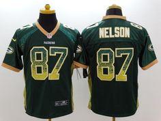 d4757f6d3 Men 87 Jordy Nelson Jersey Football Green Bay Packers Jersey