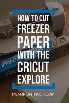 Freezer Paper Stencil for t-shirts using the Cricut Explore | MeanRightHook.com