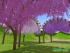 Tunnel of love in virtual landscape. 21strom @ Second Life by Zuza Ritt