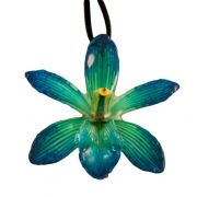 Blue-Cymbidium Necklace $45