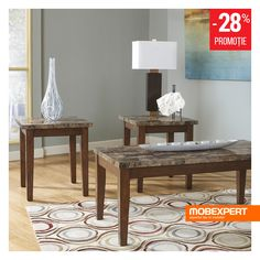 Signature Design by Ashley® Theo Coffee Table Set, Color: Warm Brown - JCPenney Creating An Entryway, Under Bed Storage, Paint Furniture, Signature Design, Engineered Wood, Wood Colors, Rustic Wood, End Tables, Contemporary Style