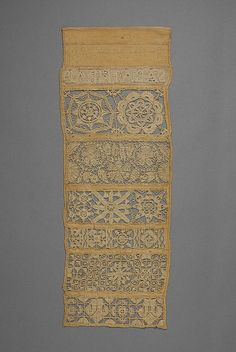 Sampler with needle lace and cutwork | British | The Met