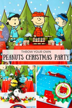 "Nothing says ""Christmas"" like A Charlie Brown Christmas Party! Oh, the childhood memories this movie ignites! @partyplanits put together an amazing Peanuts Christmas party filled with food, fun & DIYs you just have to see!"