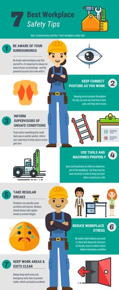 7 Best Workplace Safety Tips - An Infographic