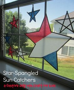 Relentlessly Fun, Deceptively Educational: Star-Spangled Sun Catchers