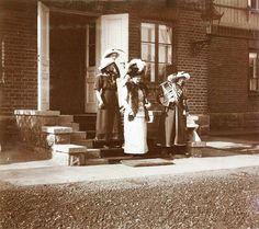 """Grand Duchesses Olga,Tatiana, Maria and Anastasia Nikolaevna Romanova of Russia,Princess Irene of Prussia and Tsar Nicholas II of Russia in Spala,autumn of 1912. """"AL"""""""