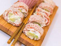 Laxrullar med färskost och avokado / sushistyle
