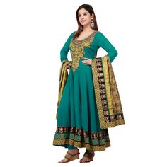 Party Wear Anarkali Suit  Check out this page now :-http://www.ethnicwholesaler.com/salwar-kameez