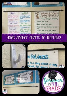 Show & Tell Tuesday - First Ever! - Need somewhere to hang all your anchor charts? Read about an easy way to display them at Forever in Fifth Grade! Utilizing Index charts and Topographical Road directions Classroom Hacks, Classroom Layout, 5th Grade Classroom, 5th Grade Math, Fifth Grade, Science Classroom, School Classroom, Classroom Decor, Third Grade