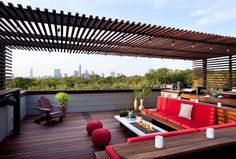 If you have an apartment with a roof terrace- you're so lucky! Nowadays, there are so many stunning roof terraces in different styles, with gardens, firepl