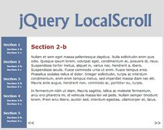 jQuery LocalScroll – jQuery Plugin to Animate Anchor Navigation  #jQuery #scroll #effect #navigation #scroller