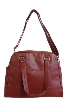 Paris Midi Shoulder Bag Burgundy