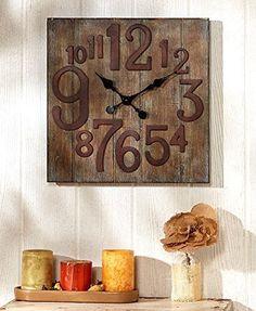 Rustic Wall Clock, Reclaimed Wood / Pallet Look  #Clock #Look #Pallet #reclaimed #Rustic #RusticWallClock #Wall #Wood The Rustic Clock