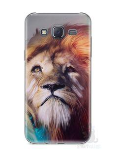 Capa Samsung J5 Leão Pintura - SmartCases - Acessórios para celulares e tablets :)