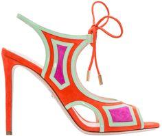 Nicholas-Kirkwood-Red-Green-Pink-Suede-Sandal