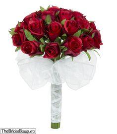 TheBridesBouquet.com - Red Silk Rose Bud Hand Tie (2 Dozen Rose Buds) - Bridal Wedding Bouquet, $19.99 (http://www.thebridesbouquet.com/red-silk-rose-bud-hand-tie-2-dozen-rose-buds-bridal-wedding-bouquet/)