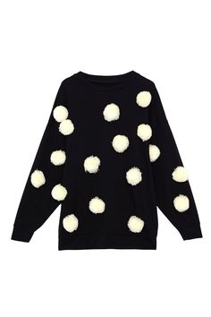 Polka dot sweater Black sweater with polka dots sleeve length Pull and bear Sweaters Crew & Scoop Necks Ugly Xmas Sweater, Sweater Shirt, Best Christmas Jumpers, Xmas Jumpers, Asos, Christmas Fashion, Christmas Clothing, Christmas Outfits, Christmas Time