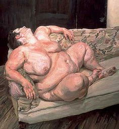 Artist: Lucian Freud Completion Date: 1995 Style: Expressionism Genre: nude painting (nu) Technique: oil Material: canvas Tags: female-nude