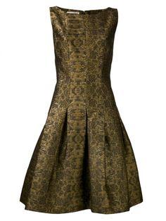 Modernes Kleid mit geradem Ausschnitt-Oscar de la-renta-design
