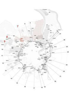 Creative Mapping and Data Visualisation Techniques for Architects - Architecture Timeline Architecture, Architecture Mapping, Architecture Panel, Architecture Graphics, Architecture Visualization, Architecture Student, Landscape Architecture, Visualisation Techniques, Data Visualisation