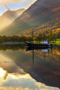 Loch Lochy in Autumn, Lochaber, Scottish Highlands.