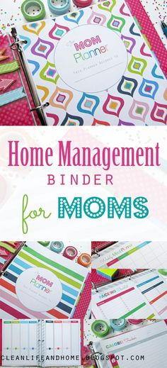 Mom Planner: Home Management Binder for Moms / The PERFECT planner for any mother- even if your babies are fur-babies!The Mom Planner: Home Management Binder for Moms / The PERFECT planner for any mother- even if your babies are fur-babies! Planer Organisation, Binder Organization, Household Organization, Organizing Life, Organising, College Organization, Planner 2018, Mom Planner, Happy Planner