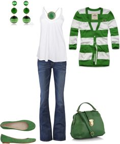 """St. Patrick's Day"" by jessicab923 ❤ liked on Polyvore"