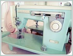 Vintage sewing machine My beautiful  vintage sewing machine! Its a Lemair Helvetia retro machine from the 50's. Solid metal. Runs like a dream..