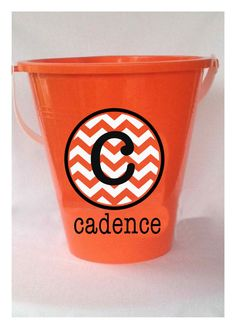 DIY Personalized Chevron Halloween Bucket Decal