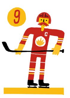 Lanny Mcdonald #9 Lanny Mcdonald, Ronald Mcdonald, Good Old Times, Illustrations And Posters, Calgary, Illustration Art, Prints, Fictional Characters, Sports