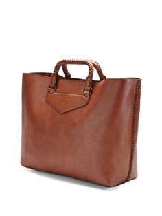 Leather tote by Burberry Prorsum is cute, but I feel like it wouldn't be ideal for anything but calm weather.