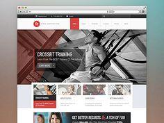 Webpage fór fitness.