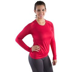 Long sleeve Workout Top For Women - also Plus Sizes - seen on The Biggest Loser *** You can get more details by clicking on the image. (This is an affiliate link) #Shirts