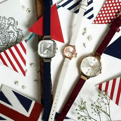 Happy 90th to the queen! It makes us proud to be British. What better way to celebrate than a watch from the colour of our flag.