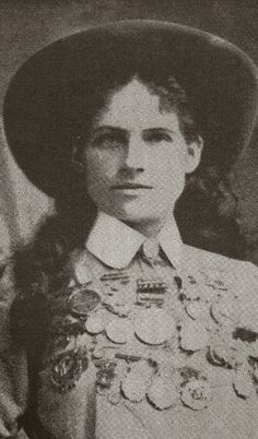 Phoebe Mozee - named Annie Oakley who was a great markswoman.