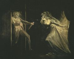 John Henry Fuseli Lady Macbeth with the Daggers, , Tate Gallery, London. Read more about the symbolism and interpretation of Lady Macbeth with the Daggers by John Henry Fuseli. Lady Macbeth, William Blake, William Shakespeare, Shakespeare Plays, Mary Shelley, John Everett Millais, Female Villains, Art Gallery, Tate Britain